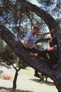 laughing in tree